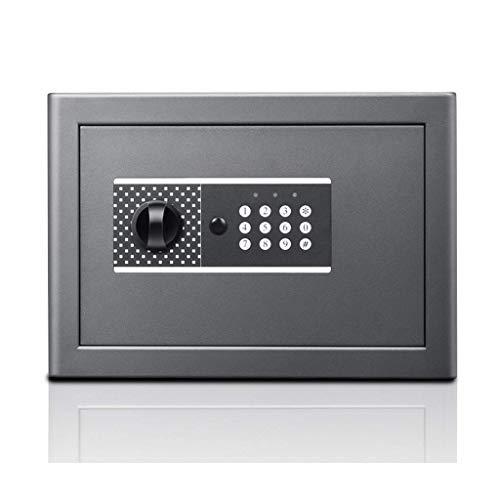 LHSUNTA Cajas & Organizadores Caja de Seguridad Electrónica Contraseña de Seguridad Periódico de Acero para Almacenamiento de Objetos de Valor, Gris 35 * 25,8 * 27 cm