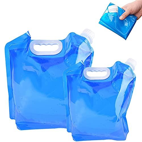 15 L Plegable Contenedores de Agua Recipiente de Agua Potable Bolsas de Agua con Grifo y...