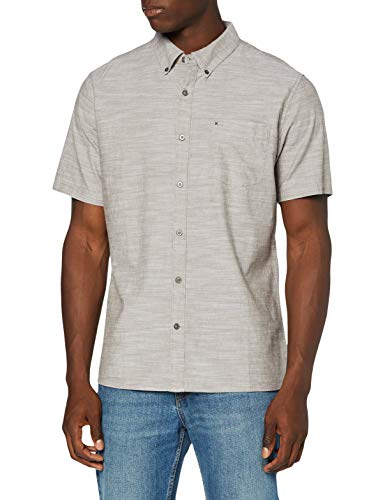 Hurley M One&Only 2.0 Woven S/S Camisa, Hombre, Olive Grey, L