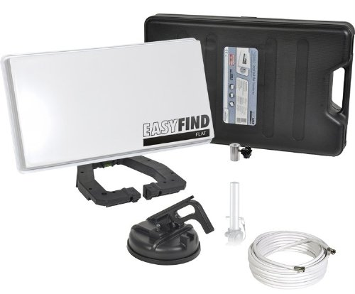 Micro Electronic Sat-Anlage Easyfind Flat Traveller-Kit inkl. Receiver