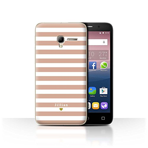 Stuff4Phone Case/Cover/Skin/alcpop35/Custom Stripes/Striped Collection Coeur Rose Nu