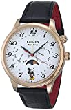 Citizen Eco-Drive Disney Quartz Mens Watch, Stainless Steel with Leather strap, Mickey Mouse, Black (Model: AP1053-15W)