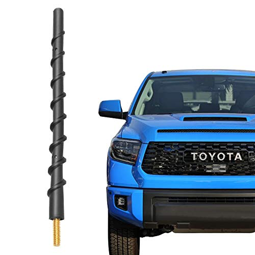 VOFONO 7 Inch Antenna Compatible with 2000-2019 Toyota Tundra, Spiral Flexible Rubber Antenna Replacement