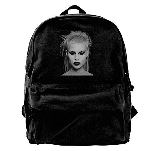 Yuanmeiju Canvas Backpack Cool Funny DIE Antwoord Yolandi Visser FACE Movie Poster Cool Ideal Gift Birthday Present Rucksack Gym Hiking Laptop Shoulder Bag Daypack for Men Women