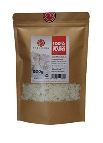 Chevering | Cera de Soja 100% Natural (500gr) Escamas - Blanco