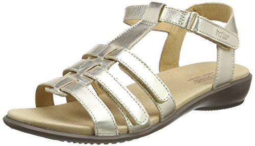 Hotter Hotter SOLXXE, Damen Offene Sandalen mit Keilabsatz, Beige - Beige (Soft Gold 135) - Größe: 35.5