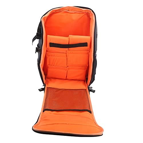 Mochila de almacenamiento para drones, mochila de almacenamiento de accesorios para drones de carreras, bolsa de hombro para transporte de drones compatible con controlador de movimiento(Naranja gris)
