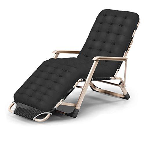 Sillón Plegable Acolchado de Gran tamaño portátil, Marco de Aluminio reclinable Plegable al Aire Libre de Gravedad Cero, sillón de Alta Resistencia Mejorado para Patio Interior I 178x65x25cm