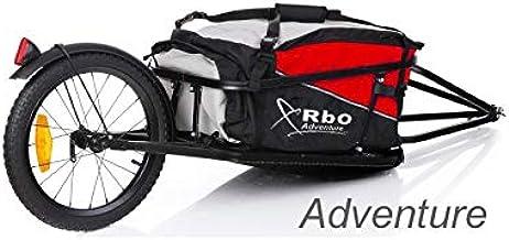 RBO Remolque de Bicicleta para Carga, Adventure, Desmontable y Plegable, Bolsa Impermeable.