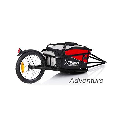 RBO Remolque de Bicicleta para Carga, Adventure, Desmontable y Plegable, Bolsa Impermeable. (Red)