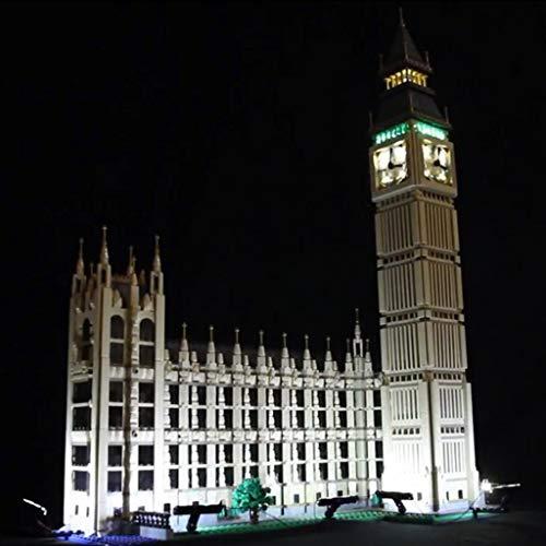 WYY Conjunto De Bricolaje De Iluminación Compatible con Lego Creator 10253 Ciudad Big Ben Building Blocks Ladrillos Modelo (Único Conjunto De Luz)