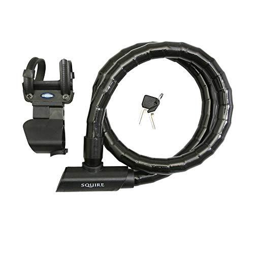 Squire diefstalbeveiligingssysteem, fiets, sleutel, mako, diameter 25 mm, l1200 mm, met standaard (garantie 10 jaar) (markering Fubicy voor verzekering)