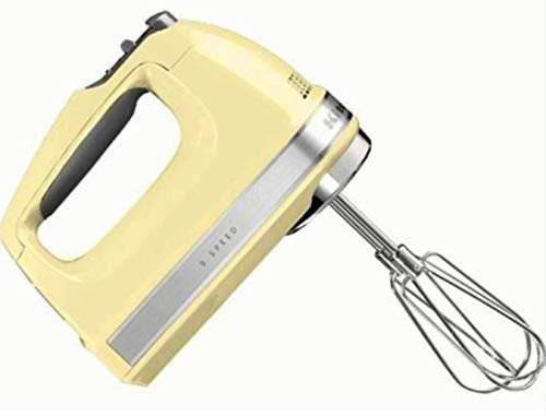 KitchenAid KHM920bf 9-Speed Most Powerful Digital Display Power Hand Mixer Buttercup Yellow (Renewed)