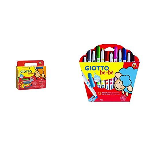 Giotto Be-Bè Pintura A Dedos 4X150 G + 66700 - Estuche 12 r