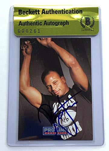 Ronnie Lott signed 1991 pro line card raiders football beckett coa - NFL Autographed Football Cards