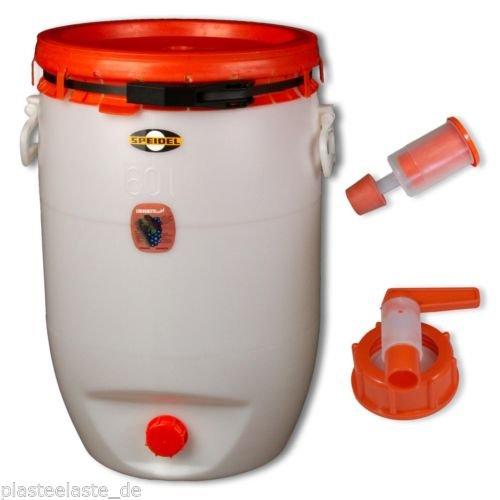Fût de fermentation Speidel 60 L rond + 1 bonde/airlock + 1 robinet (22133+22137+22138)