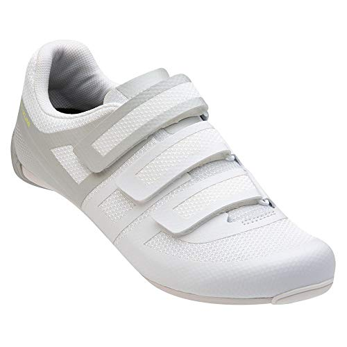 PEARL IZUMI Women's Quest Road Cycling Shoe, White/Fog, 40