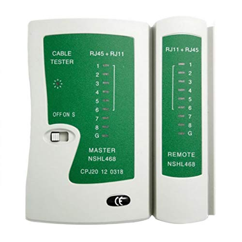 Premium Network LAN Cable Tester Test Rj45 Rj-11 Cat5 Utp Ethernet Tool Cat5 6 E Rj11 8P Portátil LAN Cable Tester; Negro Candybush