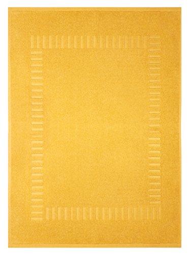 Lashuma Wannenvorleger Gelb - Mais, Waschbare Badewannenmatte, Pure 50 x 70 cm
