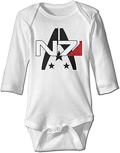 SADODER GOOOET Mass Effect Alliance N7 Baby Climbing Long Sleeve Bodysuit 0-6 Month White