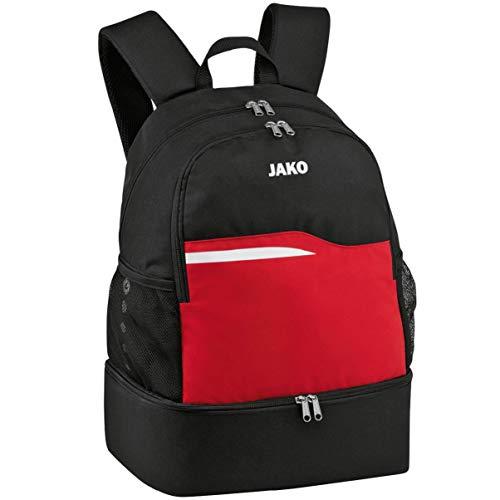 JAKO Competition 2.0 Rucksack, schwarz/Rot, 34x24x48 cm