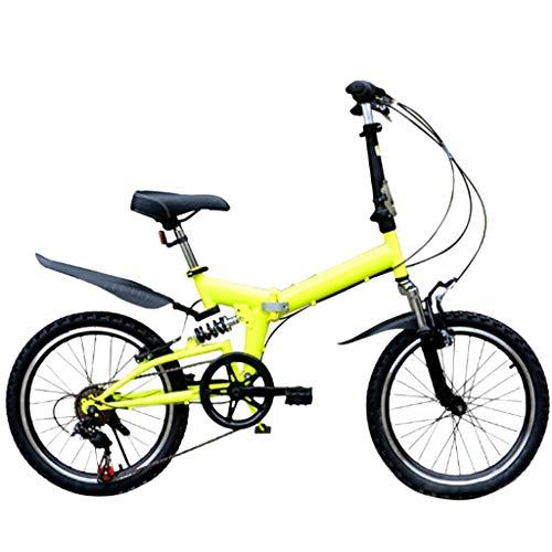 ReooLy Bicicleta de montaña Plegable 20 Pulgadas Bicicleta de Velocidad Variable para Adultos