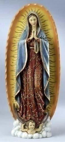 Renaissance Collection Joseph Studio por Roman Exclusivo de Nuestra señora de Guadalupe Figura Decorativa, 18,5Pulgadas