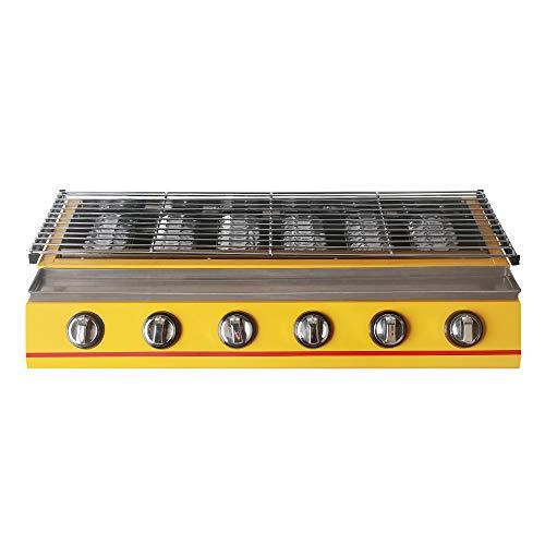 6 Grabadora Amarillo BBQ Parrilla de gas Acero – Rótulo/cristal (Picnic al...