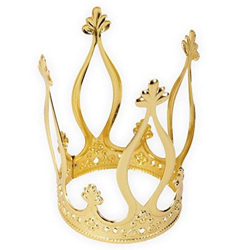 Krone Gold, elegant, Metallkrone, Krönchen, Prinzessinnenkrone, Märchen (Modell P)