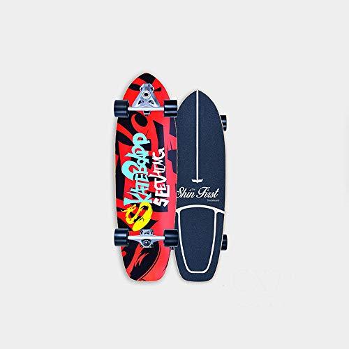 VOMI Monopatín Skate Longboard Cruiser Carver Surfskate Scooter Freestyle 31 Pulgadas Crucero Completo Adolescentes Adulto Tabla De Surf De Carretera for Adolescentes Principiante Cepillo Call