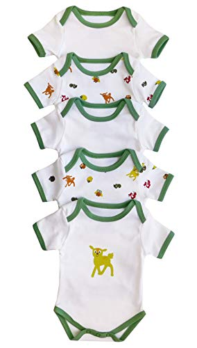 Body para bebé Slumbersac de manga corta De amigos del bosque, Pack de 5 Talla: 86cm/12-18 Meses