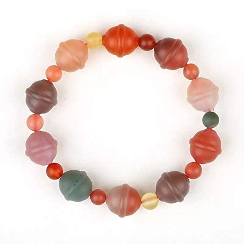 Wuligeya Bead armband mannen en vrouwen natuurlijke snoep kleur agaat bel ring armband kristal mode sieraden armband