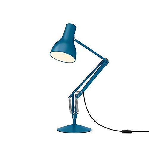 Anglepoise Type 75 Cola Borat Multifonction LED Lampe de Bureau, zwiebelblau Mat Hauteur Max. 66 cm (de Pied à Abat-Jour) 2700 K 470lm