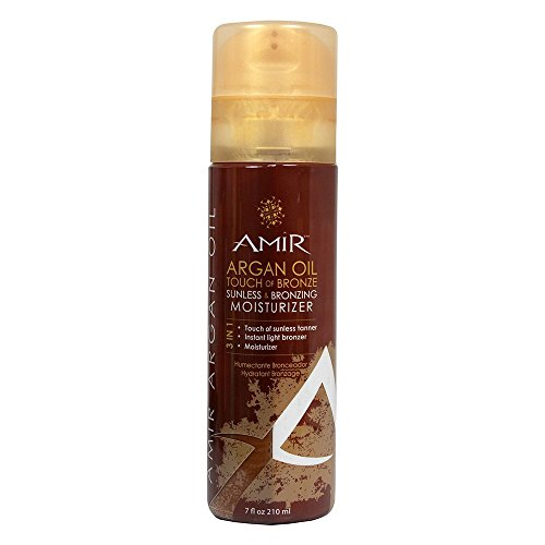Amir Argan Oil Touch of Bronze Sunless & Bronzing Moisturizer, 7.0 Fl oz