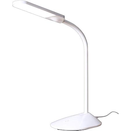 アイリスオーヤマ LEDデスクライト 調色3段階 調光無段階 簡単操作 自由可動 フレキシブルアーム 角度調節可能 省エネ ホワイト PDL-101-W