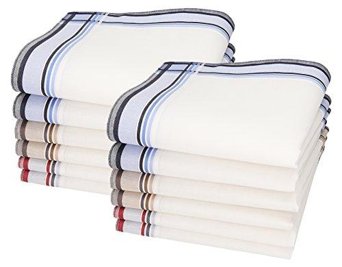 Betz Lot de 12 mouchoirs pour Homme Leo 3 40 x 40 cm 100% Coton Dessin 3