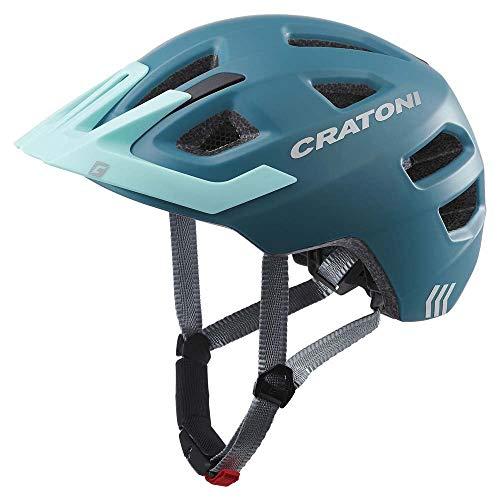 Cratoni Maxster Pro Helm Kinder Steel/Blue Matte Kopfumfang XS/S   46-51cm 2020 Fahrradhelm