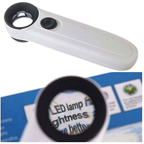 40X Magnifying Magnifier Glass Jeweler Eye Jewelry Loupe Loop 2 LED Light US