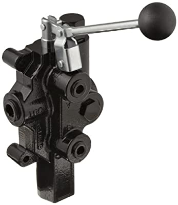 """Prince RD-2575-T4-ESA1 Directional Control Valve, Logsplitter, 4 Ways, 3 Positions, Spring Center To Neutral, Cast Iron, 3000 psi, Lever Handle, 20 gpm, In/Out: 3/4"""" NPTF, Work 1/2"""" NPTF by Prince Manufacturing"""