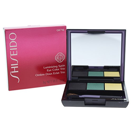 Shiseido Luminizing Satin Eye Color Trio unisex, Augen Lidschatten 3 g, Farbnummer: GR716, 1er Pack (1 x 0.058 kg)