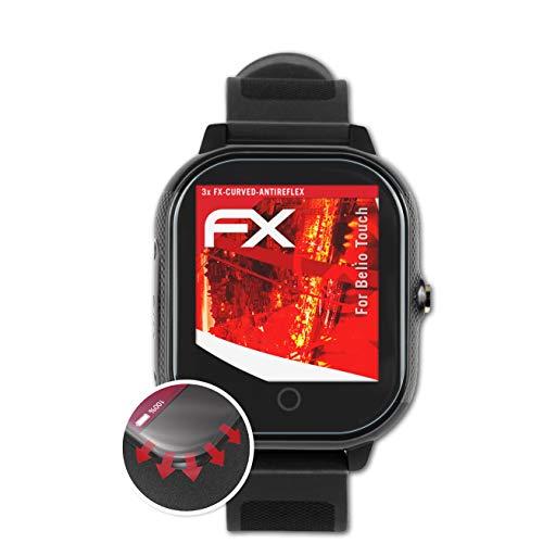 atFoliX Schutzfolie kompatibel mit Belio Touch Folie, entspiegelnde und Flexible FX Displayschutzfolie (3X)