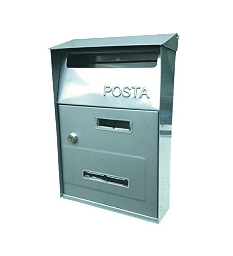 Kippen 10004H8 - Cassetta Postale'Next', Argento, 320 x 220 x 100 mm