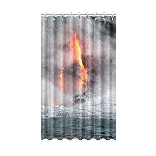 NA Cortinas de Ventana Modernas Magma y Cortina de Ventana de fusión de Agua Cocina 50 X 84 Pulgadas de una Pieza para Puerta corrediza de Vidrio para Patio/Dormitorio