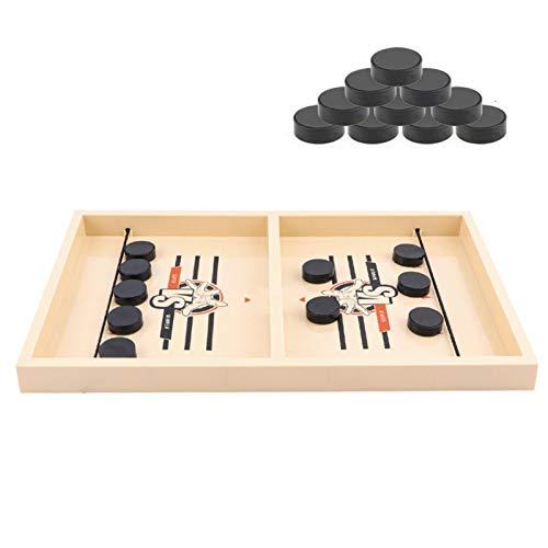YYDS Fast Sling Puck Game, Portable Desktop Hockey Battle Game, Kids Slingshot Game Tabletop Slingshot Game Toy for Parent-Child Interactive Family Game Night Fun