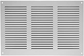 """12""""w X 8""""h Steel Return Air Grilles - with Insect Protection - Sidewall and Ceiling - White - Air Vent Cover - HVAC"""