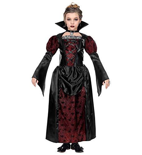 Widmann 10018779 Kinderkostüm Vampirin, Mädchen, Schwarz, 158