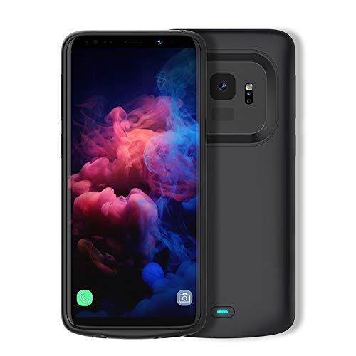 HiKiNS Funda Batería para Samsung Galaxy S9 Plus 5200mAh Externa Ultra Batería Recargable Power Bank Case Funda Cargador Portatil Batería para Galaxy S9+