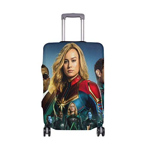 IUBBKI Travel Luggage Cover Captain Super Hero Salvation Suitcase Protector Fits L Washable Baggage Covers