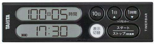 タニタ(TANITA) タイマーバーシリーズ 長期間タイマー 100日計 ブラック TD-402-BK