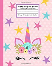 Primary Composition Notebook Handwriting Practice Paper: Adorable Boho Flowers Unicorn with Blank Writing Sheets for Kindergarten to 2nd Grade Elementary Students PDF